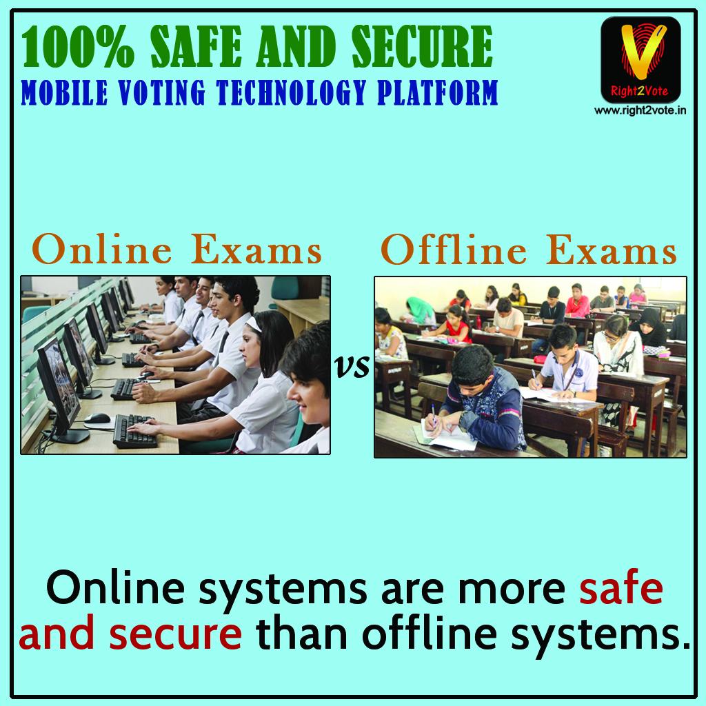 Offline exams Vs Online exams